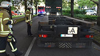 Explosionsartiger Knall in der Baden-Badener Innenstadt – Geplatzter Lkw-Reifen