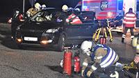 Feuerwehr bei Unfall zwischen Sandweier und Haueneberstein im Einsatz – Angeblich eingeklemmter Autofahrer