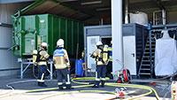 Feuer in Kartung – Feuerwehren aus Baden-Baden und Sinzheim im Einsatz