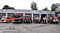 Hochwasserzug der Feuerwehr Baden-Baden im Katastrophengebiet im Einsatz