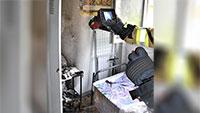 Feuer in Baden-Oos am Samstag schnell gelöscht – Ein Verletzter