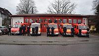Baden-Badener Feuerwehr half aus der Patsche – Lieferung mit 49.000 FFP2-Masken abgeholt und verteilt