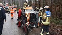 Verletzte Arbeiter auf Baden-Badener Mülldeponie – Kehrmaschine umgekippt