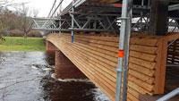 Marode Flößerbrücke ab März wieder frei – 550.000 Euro Kosten