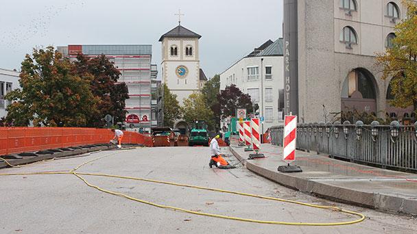 Prominenteste Brücke in Gaggenau bald wieder sicher – Zufahrt zur Innenstadt noch etwas umständlich
