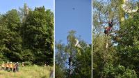 Absturz Gleitschirmflieger beim Baden-Badener Merkur – Aus Baumwipfel gerettet