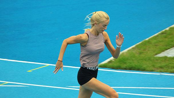 SCL Heel-Sportlerin nach Corona-Pause schnell wie ein Pfeil – Marleen Schmauder läuft unter 13 Sekunden auf 100 Meter