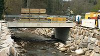Alte Holzhofbrücke wird abgebrochen – Verkehrsbehinderungen in Geroldsau