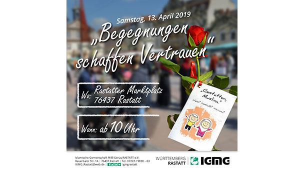 Muslime verschenken Rosen in Rastatt – Begegnungen schaffen und Vorurteile abbauen