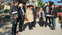 OB Mergen und Bürgermeister Hirth zeigen Regierungspräsidium das neue schöne Baden-Oos