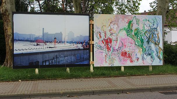 Französisch-deutsches Kunstprojekt in Bühl – Plakatwände in der Innenstadt