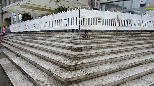 Großer Baustelle folgt kleine Baustelle am Leopoldsplatz - Leo-Treppe wird bis Frühjahr saniert