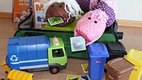 Die Handpuppe Lombi und der Themenkoffer Abfall – Für Kindergärten und Schulen