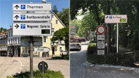 Neues Parkleitsystem in Baden-Baden aktiviert – Rund um das Kurhaus vier Standorte angeschaltet