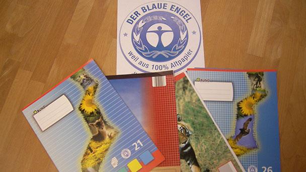 Neues Schuljahr startet in Baden-Baden mit Recyclingpapier – Abwasserbelastung zehnmal geringer