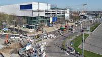 """Auch in Karlsruhe Baufortschritt entsprechend dem """"zwischen IKEA und den städtischen Fachämtern vereinbarten Zeitplan"""""""