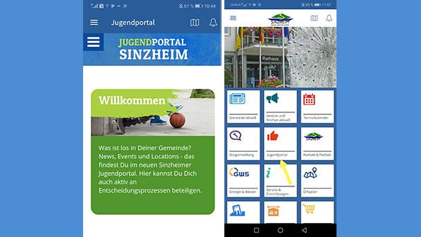 """Jugendportal in der Sinzheim App – Umfrage: """"Welches Angebot für Jugendliche wünschst Du Dir in Sinzheim?"""""""