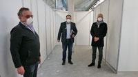 Innenausbau Kreisimpfzentrum Landkreis Karlsruhe abgeschlossen – Stadt Baden-Baden beginnt jetzt erst