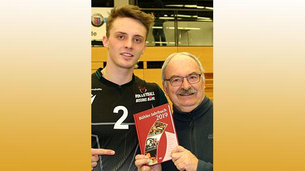 Tim Stöhr ist Bundesliga-Volleyballer im Jahrbuch 2019