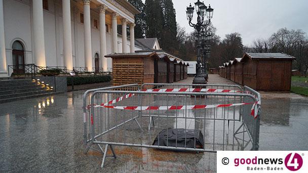 """Kein Happy End am Christkindelsmarkt - Baden-Baden-Symbol bei Unfall schwer beschädigt – """"Denkmalamt wird einbezogen"""""""