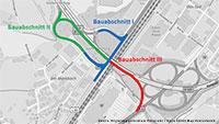Ab heute Baustelle und Umleitungen bei Sinzheim – Fahrbahndeckenerneuerung am Knotenpunkt B 500, B 3 und L 80