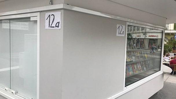 """Leserbrief """"Meine Meinung"""" – Tesafilm auf dem Leopoldsplatz  - Blieb kein Euro übrig, bei dem teuren Kiosk für eine elegantere Lösung?"""