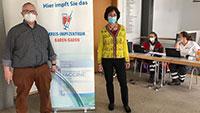 200 Zweitimpfungen in Haueneberstein – Mobiles Impfteam in Eberbachhalle