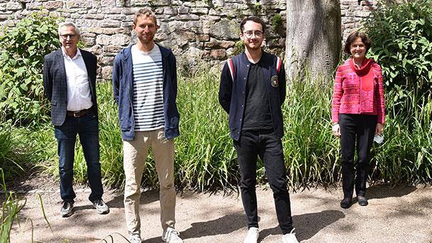 Vize-Europameister Carl Dohmann und Nathaniel Seiler im Baden-Badener Rathaus geehrt