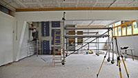 Schule größtes Gaggenauer Bauprojekt - Knallig bunte neue Mensa