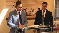 Minister Peter Hauk zu Gast in Reichental – Im Goldenen Buch eingetragen und Alten Kelter besichtigt