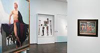 Wenig bekleidete Frauen und Männer im Museum LA8 – Auf der Leinwand – Führung im Museum LA8
