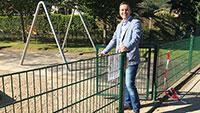 Gernsbacher Bürgermeister Julian Christ öffnete Spielplätze – Hygiene- und Abstandsregeln einhalten