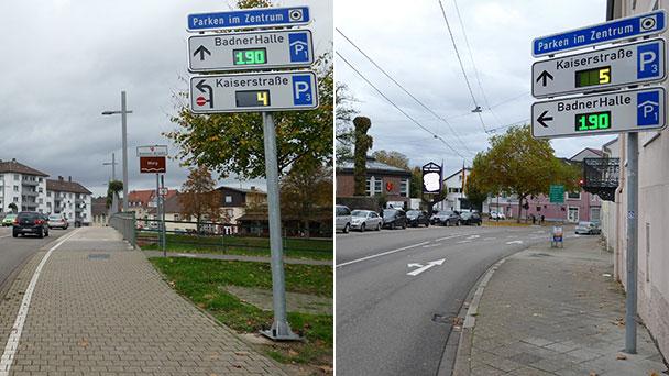 Parkleitsystem nun auch in Rastatt – Insgesamt 66 Parkplätze am zentralen Platz in der Innenstadt