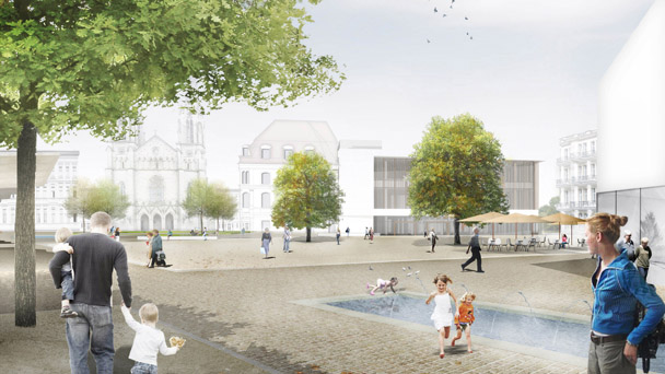 """Zweifel an Augustaplatz-Bebauung - Verein Stadtbild fragt die Stadtverwaltung: """"Wurde in 2020 nicht der Erhalt von Grünflächen gefordert? - Warum wird dann bebaut?"""""""