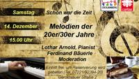 Alte Salon-Idee lebt im Cäcilienberg wieder auf - Melodien der 1920er und 1930er Jahre
