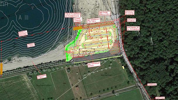 Die Badestelle Leiberstung auf dem Weg – Bürgermeister Ernst unterzeichnete Bauantrag