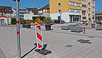 Sicherheitspoller in Gaggenau – Bahnhofsplatz ab Montag wieder befahrbar