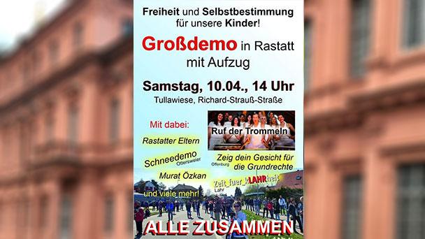 """1.000 Demonstranten in Rastatt erwartet – """"Kein Spielraum für Verbot"""""""
