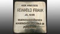 Karlsruhe gedenkt badischem Widerstandskämpfer Reinhold Frank – Am 23. Januar 1945 in Berlin erhängt –  Kranzniederlegung zum 75. Todestag