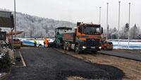 Aumattstadion wird aufgehübscht – Sanierung der Wegebeläge kommt voran