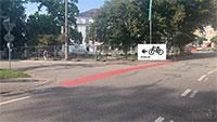 """Folgen des Großbrandes am Badischen Hof – SPD-Stadtrat Werner Schmoll beklagt Engpass für Radfahrer – Schnelle Reaktion von Bürgermeister Kaiser: """"Sperrung aufgehoben"""""""