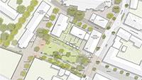"""In Sinzheim soll ein Park entstehen - Neue Konzeption """"St. Vinzenz-Park"""" und Kirchstraße/Kirchplatz"""