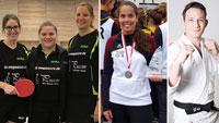 Digitale Sportlerehrung in Rastatt – Mannschaft des Jahres Tischtennisfreunde Rastatt – Pilar Hernandez Mesa und Lars Sowa Sportler des Jahres