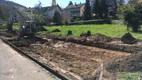 Neue Stellplätze an Yburghalle – Bau hat begonnen