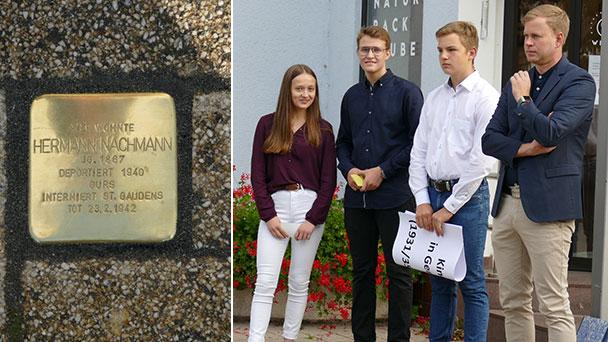 Gernsbach gedenkt Opfer des NS-Regimes – Stolpersteine in der Bleichstraße verlegt