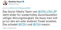 "Kritik an EU-Abgeordnetem Daniel Caspary – Behauptung ""gekaufte Demonstranten"" – Ex-CDU-Generalsekretär: ""Union wird eine ganze Generation verlieren"""