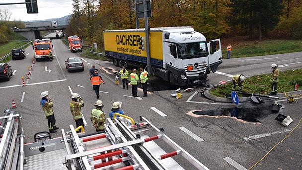 A5-Ausfahrt bei Baden-Baden weiterhin gesperrt