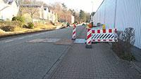 Gehwegeinbruch wird vorläufig geheilt – Provisorische Lösung in der Goethestraße