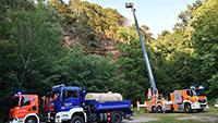 Polizei vermutet Brandstiftung bei Waldbrand in Baden-Baden – Ermittlungen dauern an
