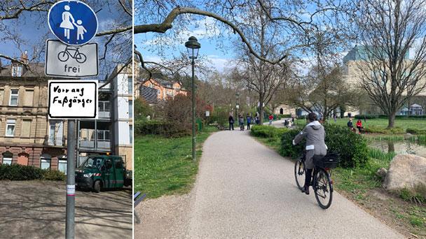 """Konflikte rund ums Festspielhaus – """"Fahrradfahrer versuchen Fußgänger zur Seite zu drängen"""" – Stadträte Schmoll SPD und Pilarski FDP fordern Schild """"Vorrang Fußgänger"""""""